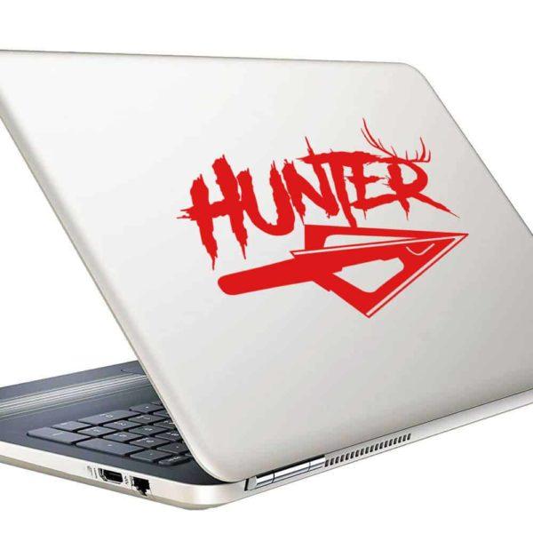 Hunter Antlers Arrow Tip Vinyl Laptop Macbook Decal Sticker