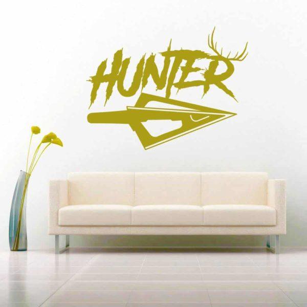 Hunter Antlers Arrow Tip Vinyl Wall Decal Sticker