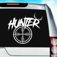 Hunter Antlers Rifle Gun Scope Vinyl Car Window Decal Sticker