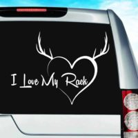 I Love My Rack Vinyl Car Window Decal Sticker