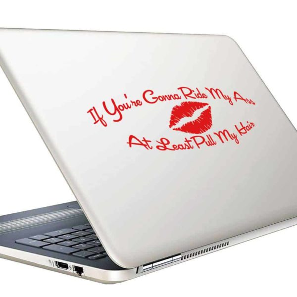 If Youre Gonna Ride My Ass At Least Pull My Hair Vinyl Laptop Macbook Decal Sticker