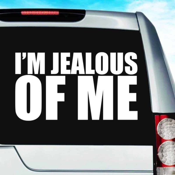 Im Jealous Of Me Vinyl Car Window Decal Sticker