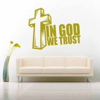 In God We Trust Vinyl Wall Decal Sticker