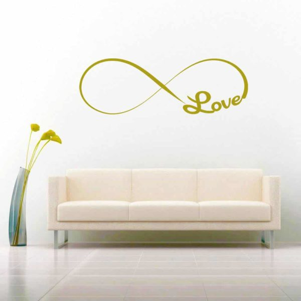 Infinity Love Vinyl Wall Decal Sticker