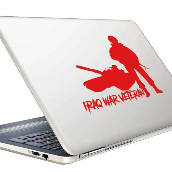 Iraq War Veteran Soldier Tank Vinyl Laptop Macbook Decal Sticker