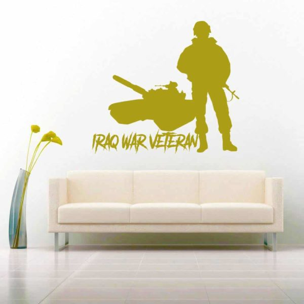 Iraq War Veteran Soldier Tank Vinyl Wall Decal Sticker
