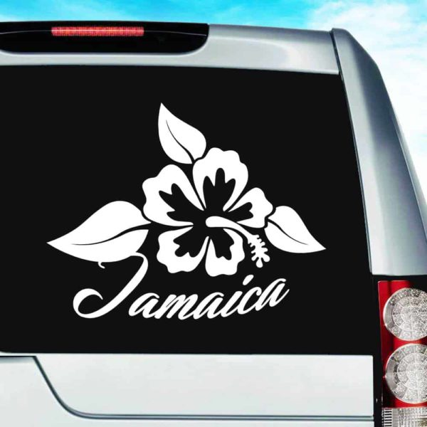 Jamaica Hibiscus Flower Vinyl Car Window Decal Sticker