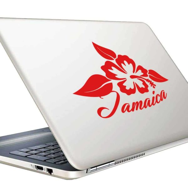 Jamaica Hibiscus Flower Vinyl Laptop Macbook Decal Sticker