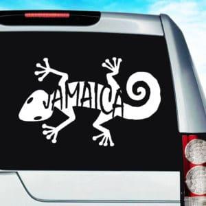 Jamaica Lizard Vinyl Car Window Decal Sticker