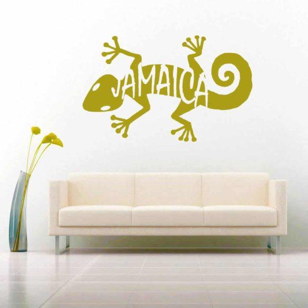 Jamaica Lizard Vinyl Wall Decal Sticker