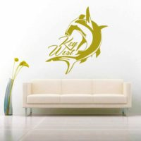 Key West Hammehead Shark Vinyl Wall Decal Sticker