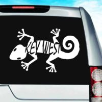 Key West Lizard Vinyl Car Window Decal Sticker