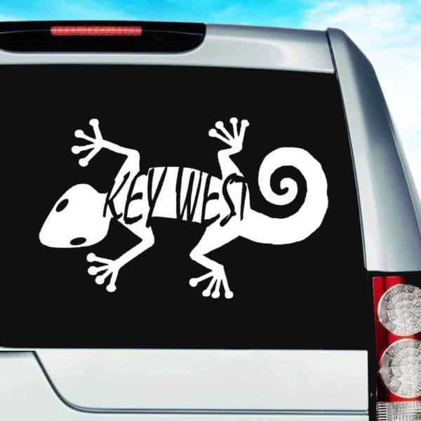 Key West Lizard Vinyl Car Window Decal Sticker