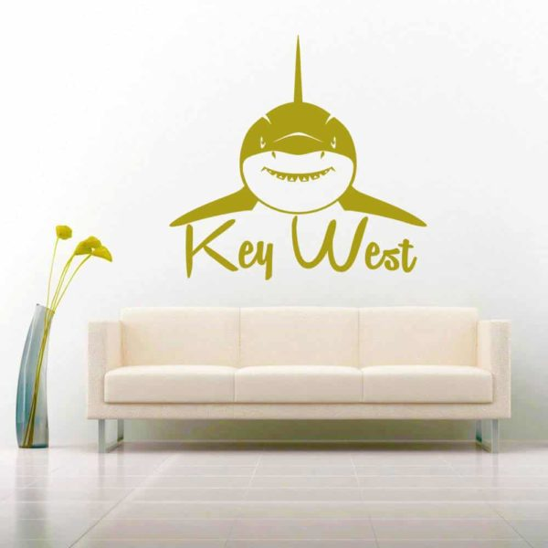 Key West Shark Front View Vinyl Wall Decal Sticker