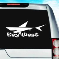 Key West Shark Vinyl Car Window Decal Sticker