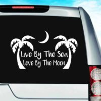 Live By The Sea Love By The Moon Vinyl Car Window Decal Sticker