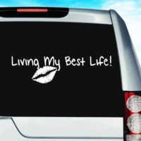 Living My Best Life Vinyl Car Window Decal Sticker