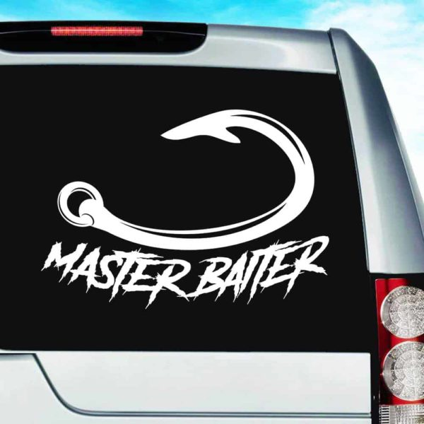 Master Baiter Fishing Hook Vinyl Car Window Decal Sticker
