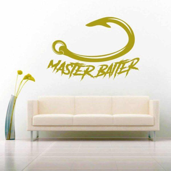 Master Baiter Fishing Hook Vinyl Wall Decal Sticker