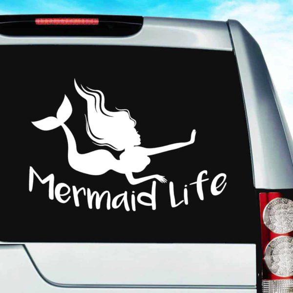 Mermaid Life Vinyl Car Window Decal Sticker