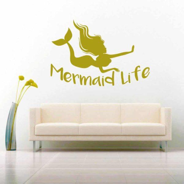 Mermaid Life Vinyl Wall Decal Sticker