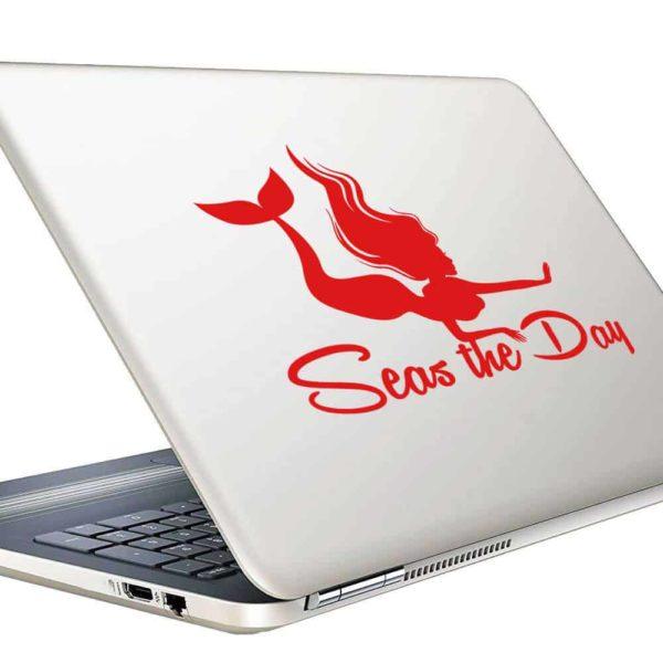 Mermaid Seas The Day Vinyl Laptop Macbook Decal Sticker