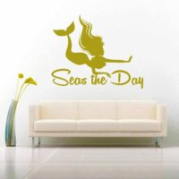 Mermaid Seas The Day Vinyl Wall Decal Sticker