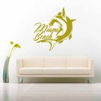Miami Beach Florida Hammerhead Shark Vinyl Wall Decal Sticker