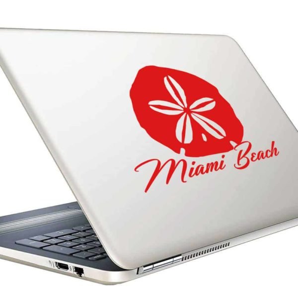 Miami Beach Florida Sand Dollar Vinyl Laptop Macbook Decal Sticker