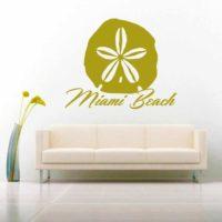 Miami Beach Florida Sand Dollar Vinyl Wall Decal Sticker