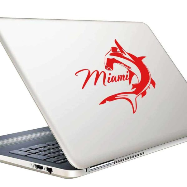 Miami Florida Hammerhead Shark Vinyl Laptop Macbook Decal Sticker
