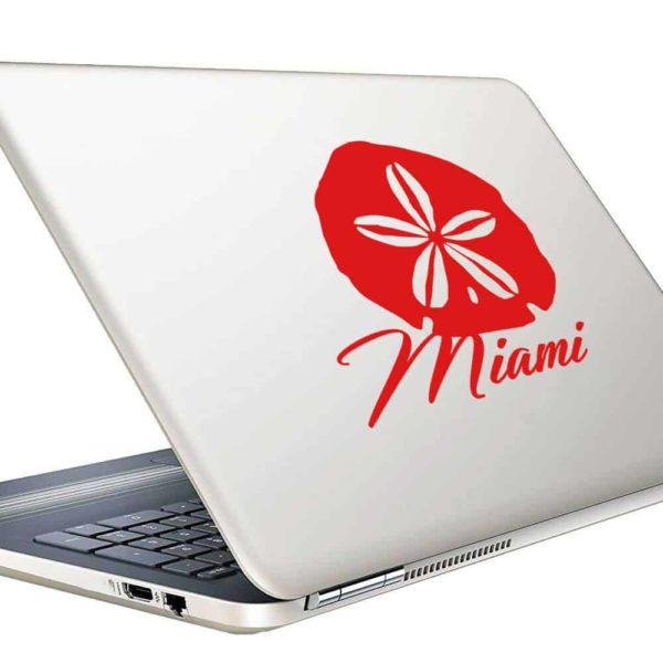 Miami Florida Sand Dollar Vinyl Laptop Macbook Decal Sticker