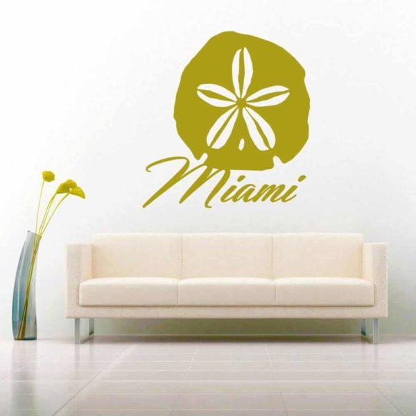 Miami Florida Sand Dollar Vinyl Wall Decal Sticker