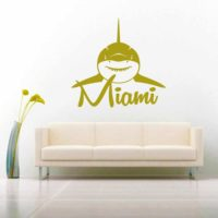 Miami Florida Shark Front View Vinyl Wall Decal Sticker