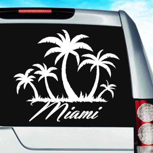 Miami Palm Tree Island Vinyl Car Window Decal Sticker