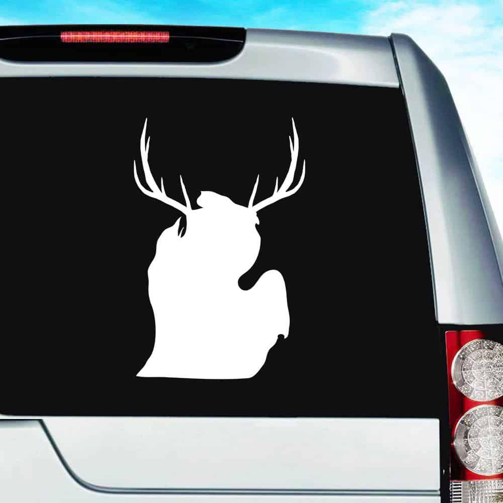 "5.5/"" Beer Bear Deer Hunting Hunter Vinyl Decal Sticker Car Truck Redneck Funny"