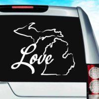 Michigan Love Vinyl Car Window Decal Sticker