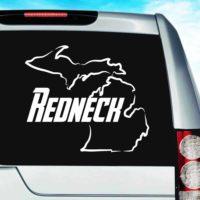 Michigan Redneck Vinyl Car Window Decal Sticker
