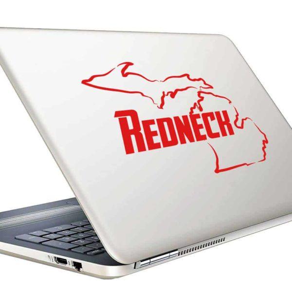 Michigan Redneck Vinyl Laptop Macbook Decal Sticker