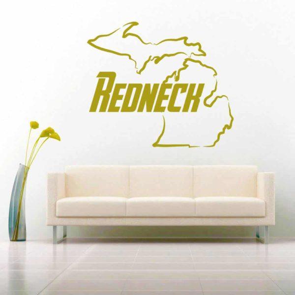 Michigan Redneck Vinyl Wall Decal Sticker