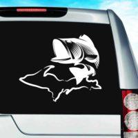 Michigan Up Upper Peninsula Bass Fishing Vinyl Car Window Decal Sticker