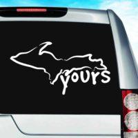 Michigan Up Yours Vinyl Car Window Decal Sticker