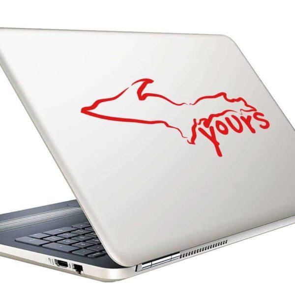 Michigan Up Yours Vinyl Laptop Macbook Decal Sticker