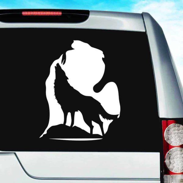 Michigan Wolf Imbed Vinyl Car Window Decal Sticker