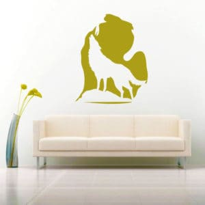Michigan Wolf Imbed Vinyl Wall Decal Sticker