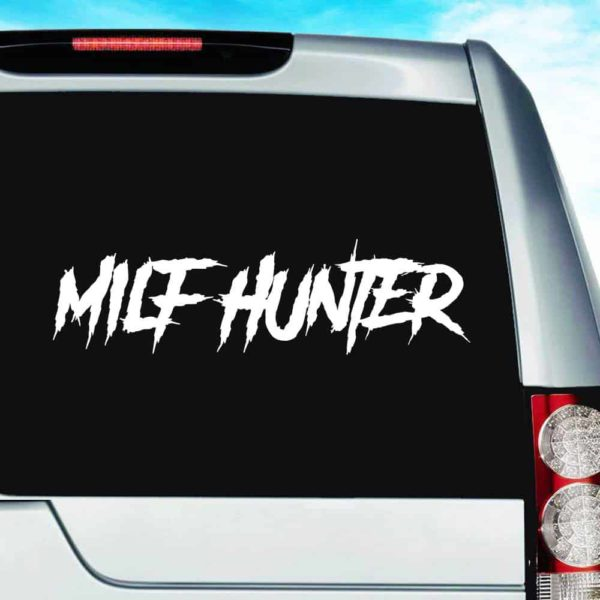 Milf Hunter Vinyl Car Window Decal Sticker