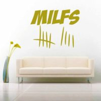 Milfs Tally Marks Vinyl Wall Decal Sticker