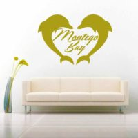 Montego Bay Dolphin Heart Vinyl Wall Decal Sticker
