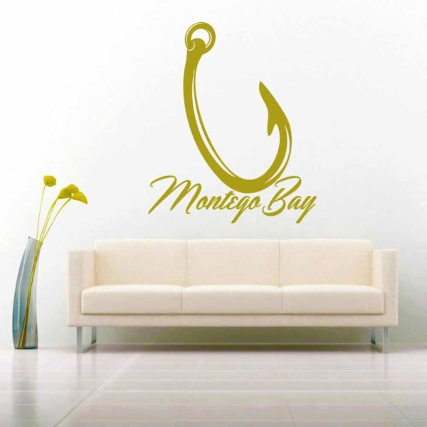 Montego Bay Fishing Hook Vinyl Wall Decal Sticker