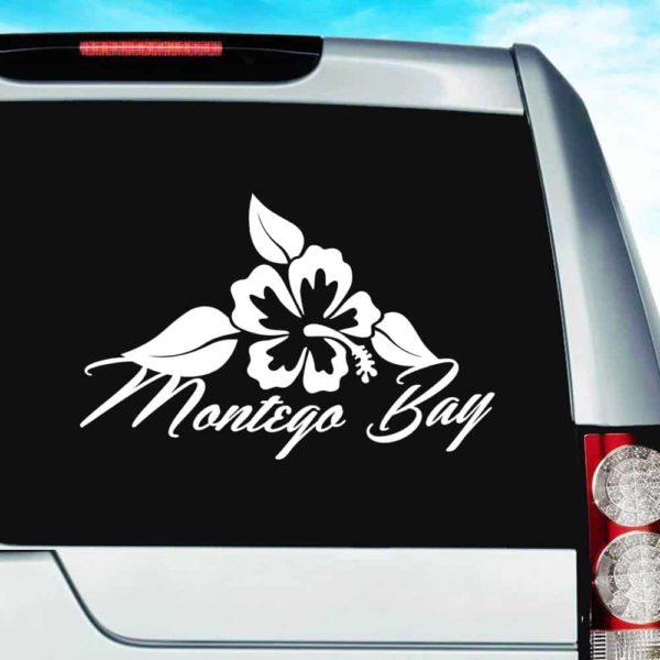 Montego Bay Hibiscus Flower Vinyl Car Window Decal Sticker